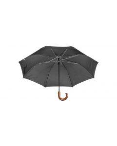 STANSED - parapluie pliable avec poignée bois.