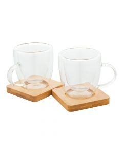 MOCABOO - set de tasses en verre espresso