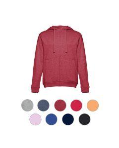 THC AMSTERDAM - Sweat-shirt pour homme, avec fermeture zippée et capuche