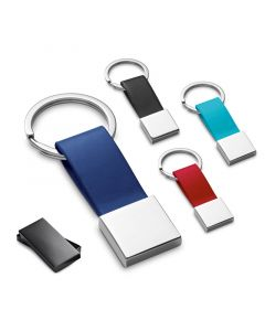 BUMPER - Porte-clés en métal et simili cuir