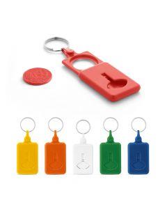 BUS - Porte-clés avec monnaie pour chariot de supermarché